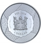 Серебряная монета 1oz Тайра-но Киёмори 1 доллар 2018 Фиджи