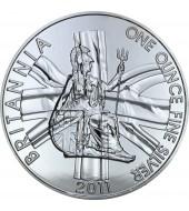 Серебряная монета 1oz Британия 2 фунта стерлингов Великобритания 2011