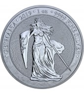 "Срібна монета 1oz 5 марок Німеччина 2019 ""Limited Edition for WORLD MONEY FAIR'20"""