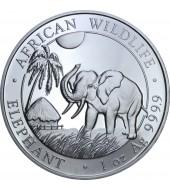 Серебряная монета 1oz Слон 100 шилингов 2017 Сомали
