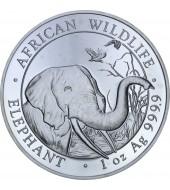 Срібна монета 1oz Слон 100 шилінгів 2018 Сомалі