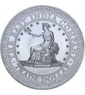 Серебряная монета 1oz Торговый доллар Америки 1 фунт стерлингов 2018 Остров Святой Елены