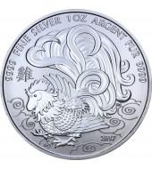 Срібна монета 1oz Рік Півня 5 доларів 2017 Канада