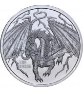 Срібний раунд 1oz Скандинавський Дракон (4/6) США