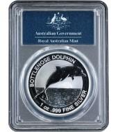 Срібна монета 1oz Пляшконосий Дельфін 1 долар 2019 Австралія