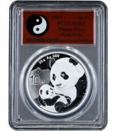 Серебряная монета 30g Китайская Панда 10 юань 2019 Китай