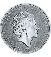 Срібна монета 2oz Сокіл Плантагенетів 5 фунтів 2019 Великобританія