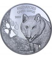Серебряная монета 1oz Волк (Canis Lupus) 20 франков Конго 2019