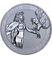 "Срібна монета 1oz 5 марок Німеччина 2020 ""Limited Edition for WORLD MONEY FAIR'20"""