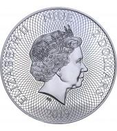 Срібна монета 1oz Пінгвін 2 долара 2019 Ніуе (кольорова)