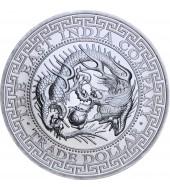 Серебряная монета 1oz Торговый доллар Японии 1 фунт стерлингов 2020 Остров Святой Елены