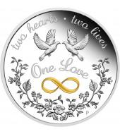 Срібна монета 1oz Єдине Кохання 1 долар 2020 Австралія
