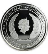 Срібна монета 1oz Домініка 2 долара 2018 Східні Кариби (кольорова)