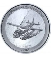 Срібна монета 1oz Сент-Вінсент і Гренадіни 2 долара 2018 Східні Кариби