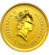 Золота монета 1/20oz Рік Миші (Щура) 5 доларів 1996 Австралія
