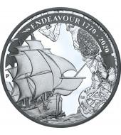 Серебряная монета 1oz Индевор 1770-2020 1 доллар 2020 Австралия