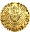 Золота монета Вільгельм II 20 марок 1906 Прусія Німецька Імперія