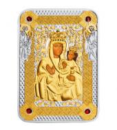 Серебряная монета 1oz Икона Богоматери Зарваницкая 1 доллар 2014 Ниуэ (цветная)