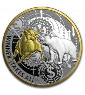 Срібна монета 1oz Переможець отримує все 1000 франків 2020 Камерун (кольорова)