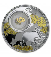 Серебряная монета Слоненок 500 франков 2020 Камерун