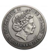 Серебряная монета 2oz Якорь 5 долларов 2019 Ниуэ