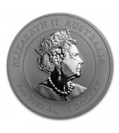 Серебряная монета 1oz Год Мыши 1 доллар 2020 Австралия (цветная)
