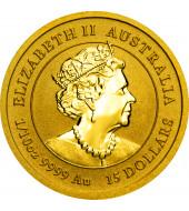 Золотая монета 1/10oz Год Мыши (Крысы) 15 долларов 2020 Австралия