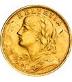Золотая монета Гельвеция 20 франков 1947 Швейцария