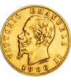Золотая монета Виктор Эммануил II 20 лир 1866 Италия