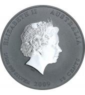 Серебряная монета 1/2oz Год Быка 50 центов 2009 Австралия