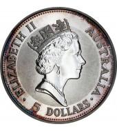 Срібна монета 1oz Кукабарра 1 долар 1991 Австралія