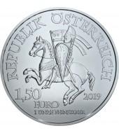 Серебряная монета 1oz Леопольд V 825-летие 1,5 евро 2019 Австрия