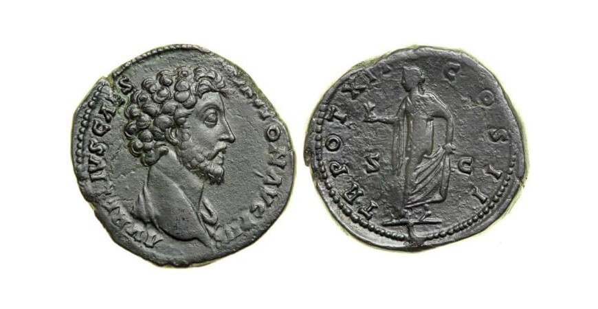 Стародавня монета Риму секстанс